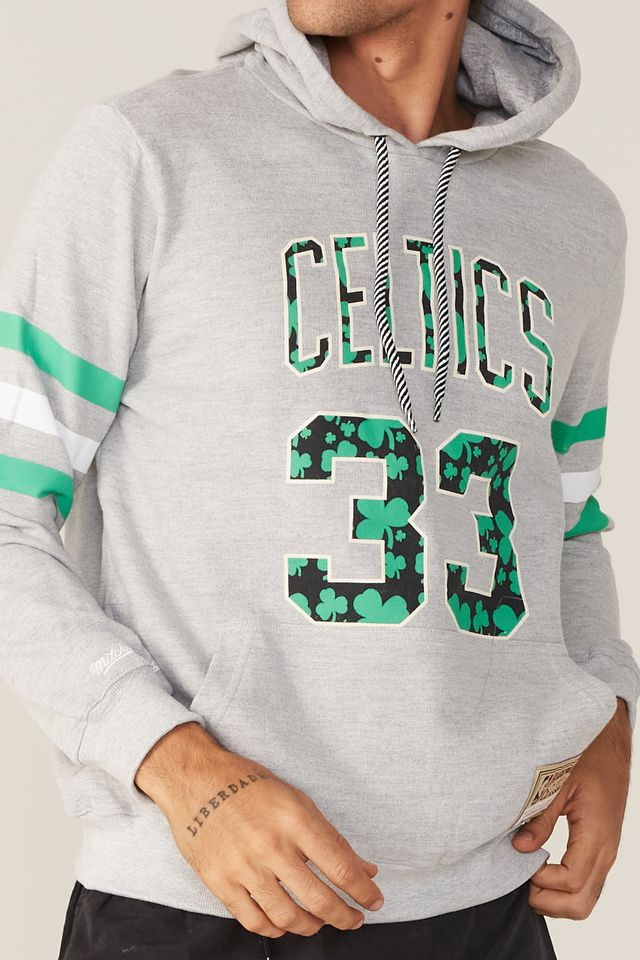 Moletom-Mitchell---Ness-Fechado-Com-Capuz-Especial-Boston-Celtics-Larry-Bird-Cinza-Mescla