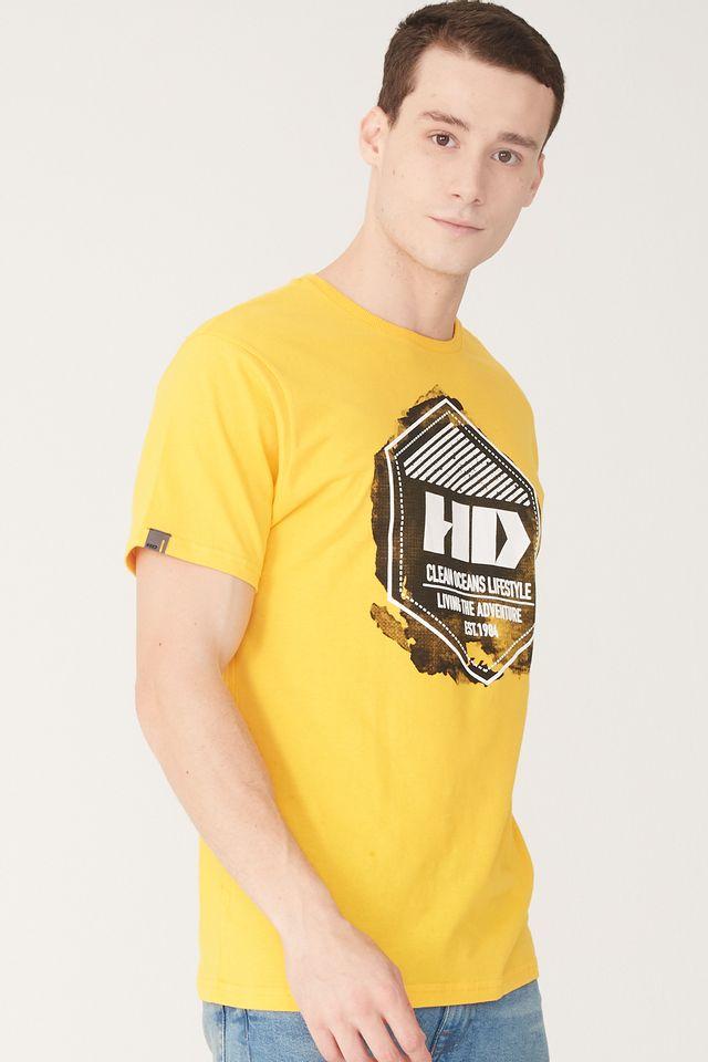 Camiseta-HD-Estampada-Amarela
