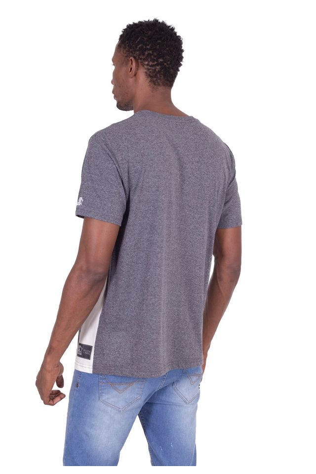 Camiseta-Starter-Especial-Recorte-Lateral-Cinza-Mescla-Escuro