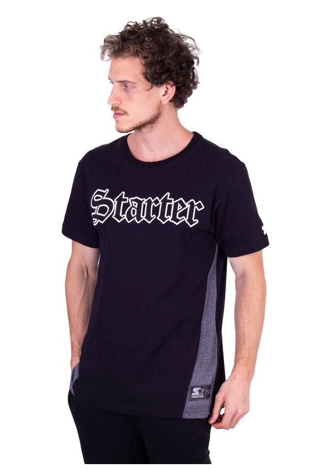 Camiseta-Starter-Especial-Recorte-Lateral-Preta