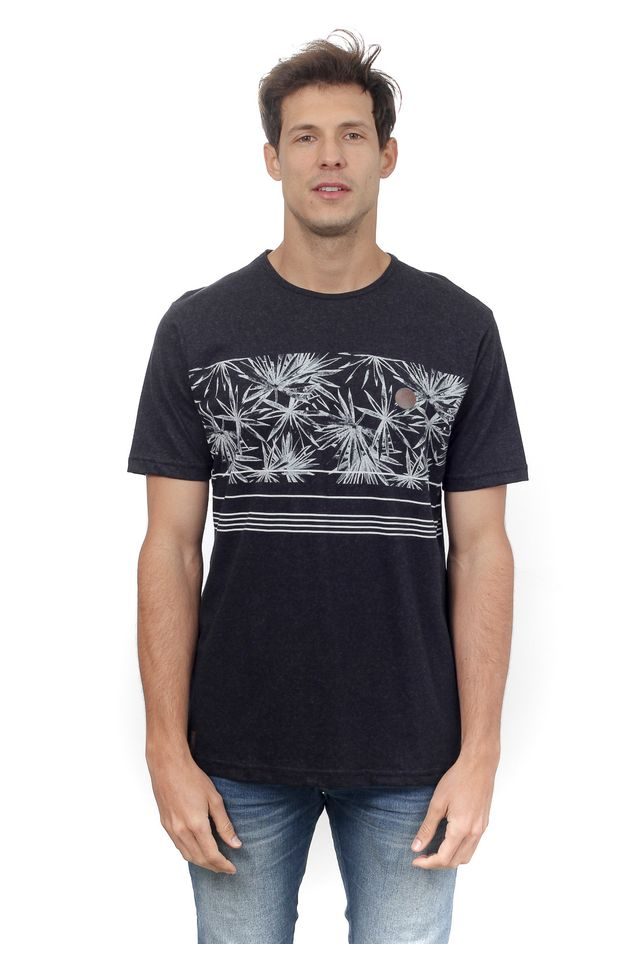 Camiseta-HD-Especial-Starry-Leaves-Preta-Mescla