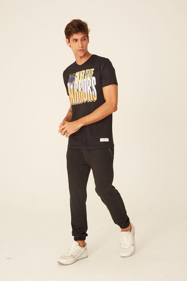 Camiseta-Mitchell---Ness-Estampada-Scribble-Fill-Estampada-Golden-State-Warriors-Preta