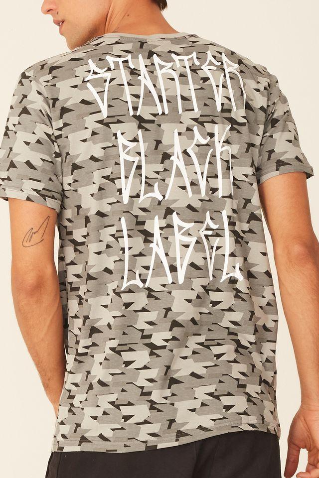Camiseta-Starter-Especial-Estampada-Pixo-Black-Label-Cinza