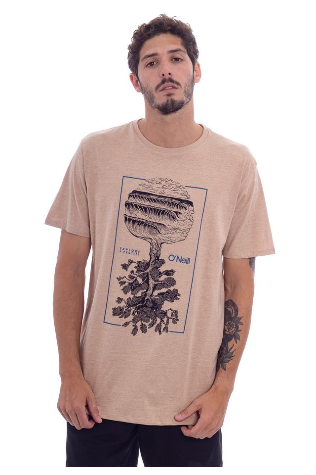 Camiseta-Oneill-Especial-Estampada-Tree-of-Life-Bege-Escuro