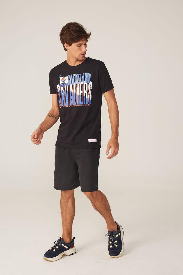 Camiseta-Mitchell---Ness-Estampada-Scribble-Fill-Cleveland-Cavaliers-Preta