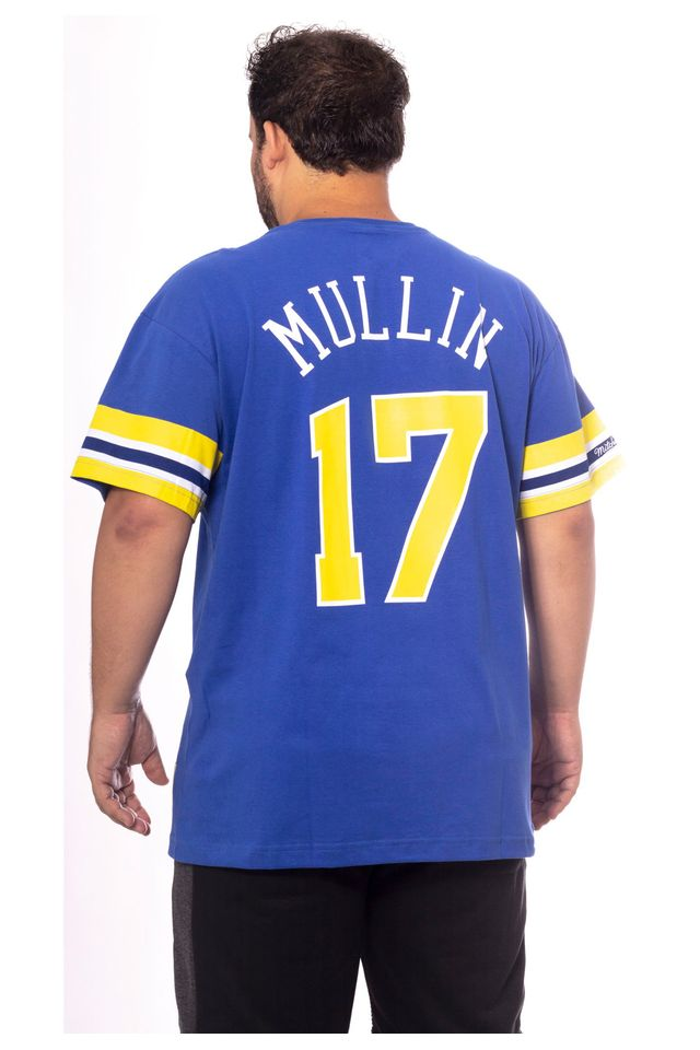 Camiseta-Mitchell---Ness-Plus-Size-Estampada-Golden-State-Warriors-Chris-Mullin-Azul