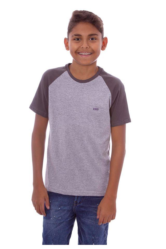 Camiseta-HD-Juvenil-Raglan-Estampada-Minimal-Cinza-Mescla