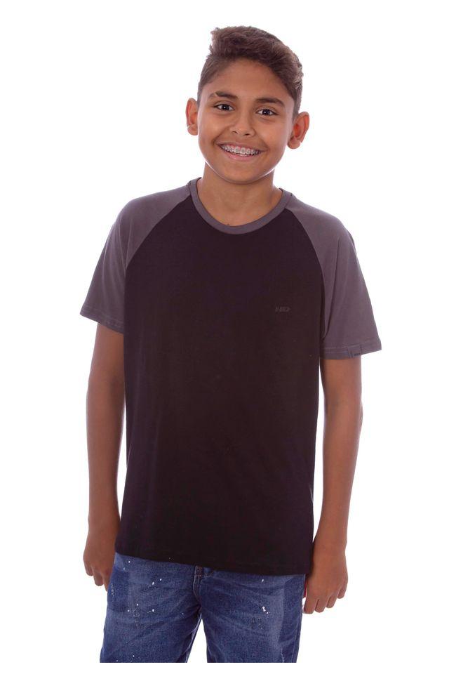 Camiseta-HD-Juvenil-Raglan-Estampada-Minimal-Preta
