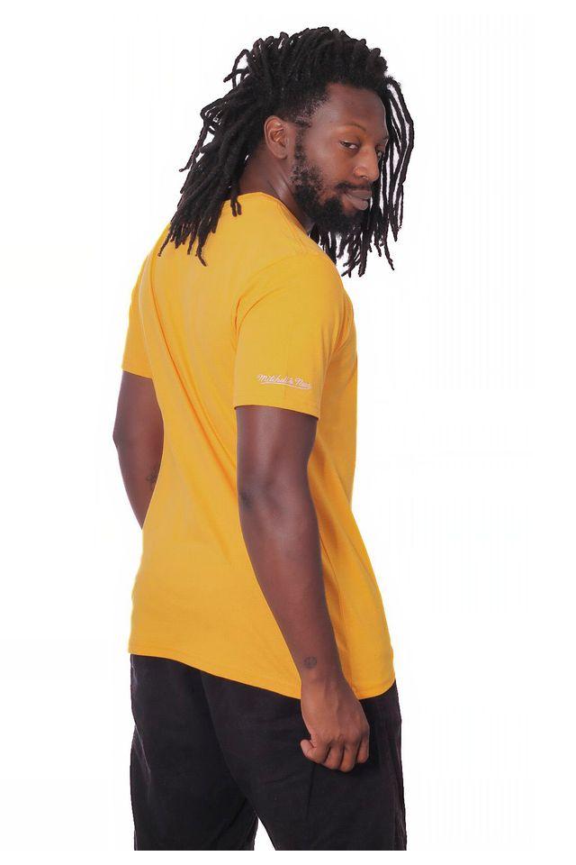 Camiseta-Mitchell---Ness-Basica-Estampada-NFL-Pittsburgh-Stellers-Amarela