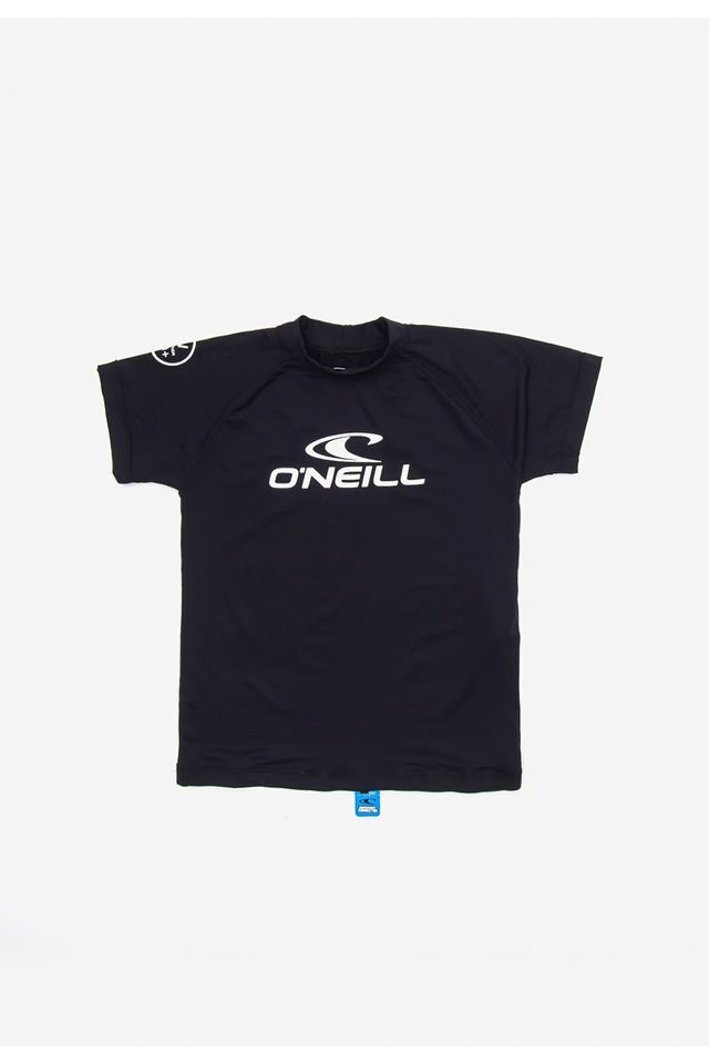 Camiseta-Oneill-Juvenil-Manga-Curta-Lycra-Preta