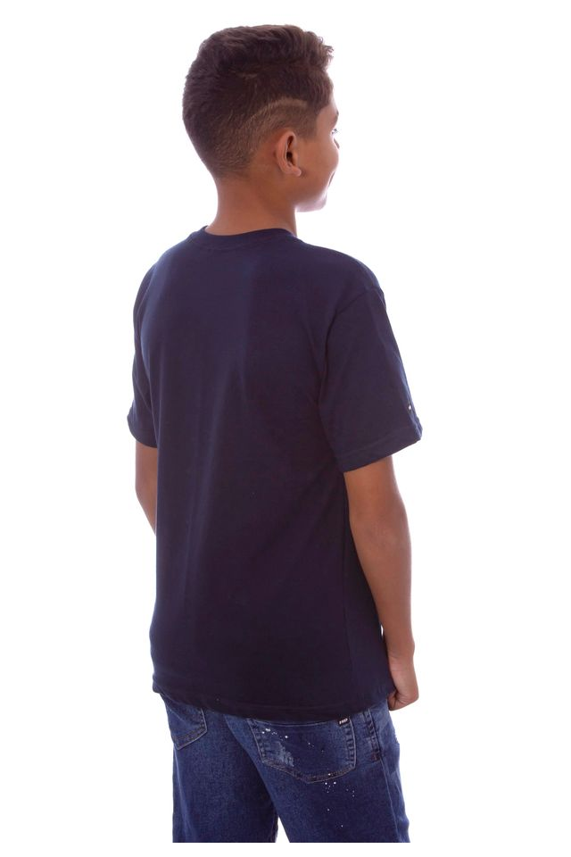 Camiseta-HD-Juvenil-Estampada-Retro-Azul-Marinho