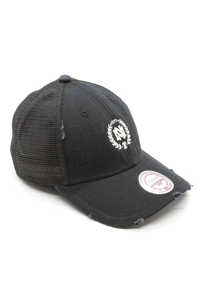 Bone-Mitchell---Ness-Aba-Curva-Snapback-Trucker-The-Washed-Branded-Cinza