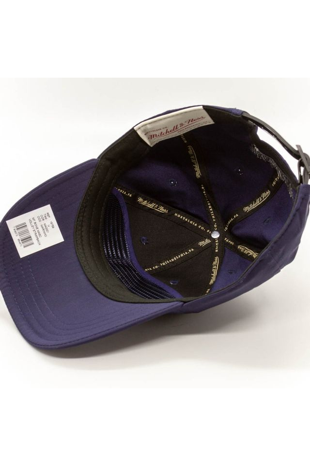 Bone-Mitchell---Ness-Aba-Curva-Strapback-Volley-Branded-Azul-Marinho