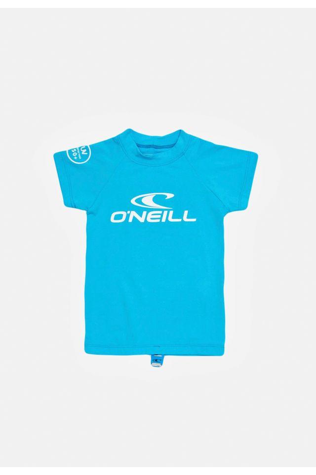 Camiseta-Oneill-Infantil-Manga-Curta-Lycra-Azul