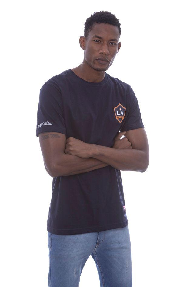 Camiseta-Mitchell---Ness-Estampada-Major-League-Soccer-Logo-Los-Angeles-Galaxy-Azul-Marinho