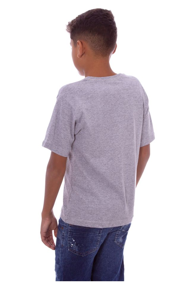 Camiseta-HD-Juvenil-Estampada-Mermaid-Cinza-Mescla