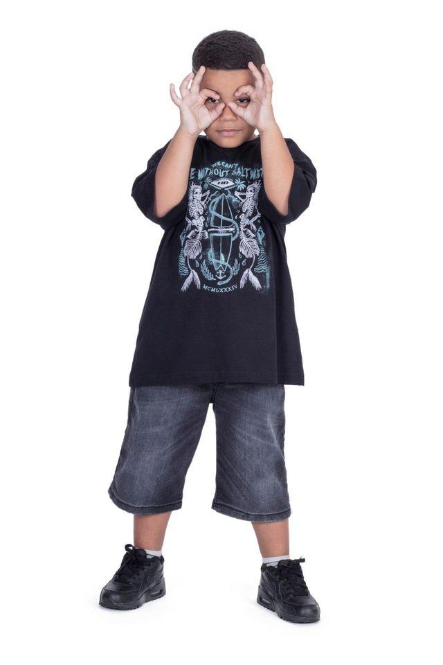 Camiseta-HD-Juvenil-Estampada-Mermaid-Preta