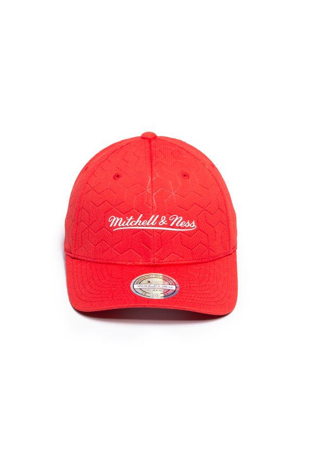 Bone-Mitchell---Ness-Aba-Curva-Snapback-Branded-Vermelho