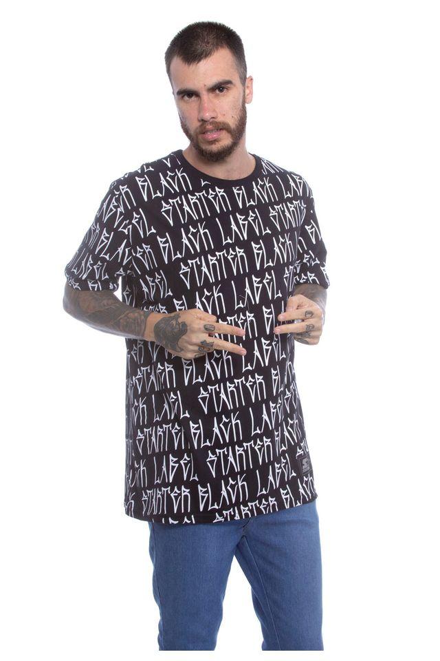 Camiseta-Starter-Estampada-Full-Letter-Preta