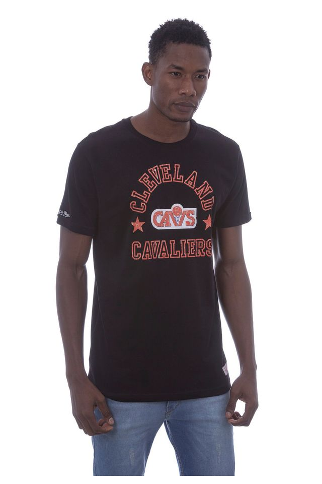 Camiseta-Mitchell---Ness-Estampada-Cleveland-Cavaliers-Preta