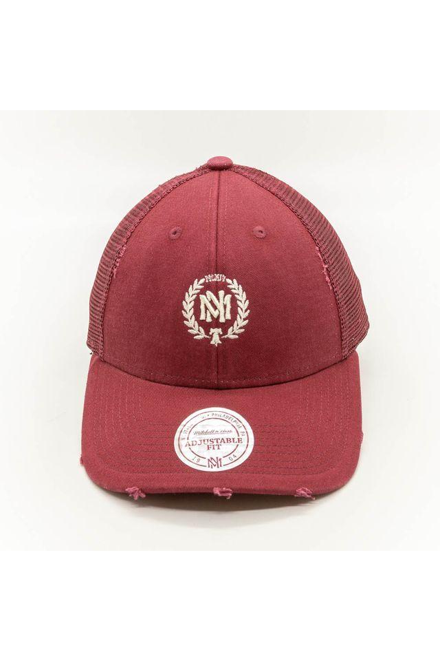 Bone-Mitchell---Ness-Aba-Curva-Snapback-Trucker-The-Washed-Branded-Vermelho