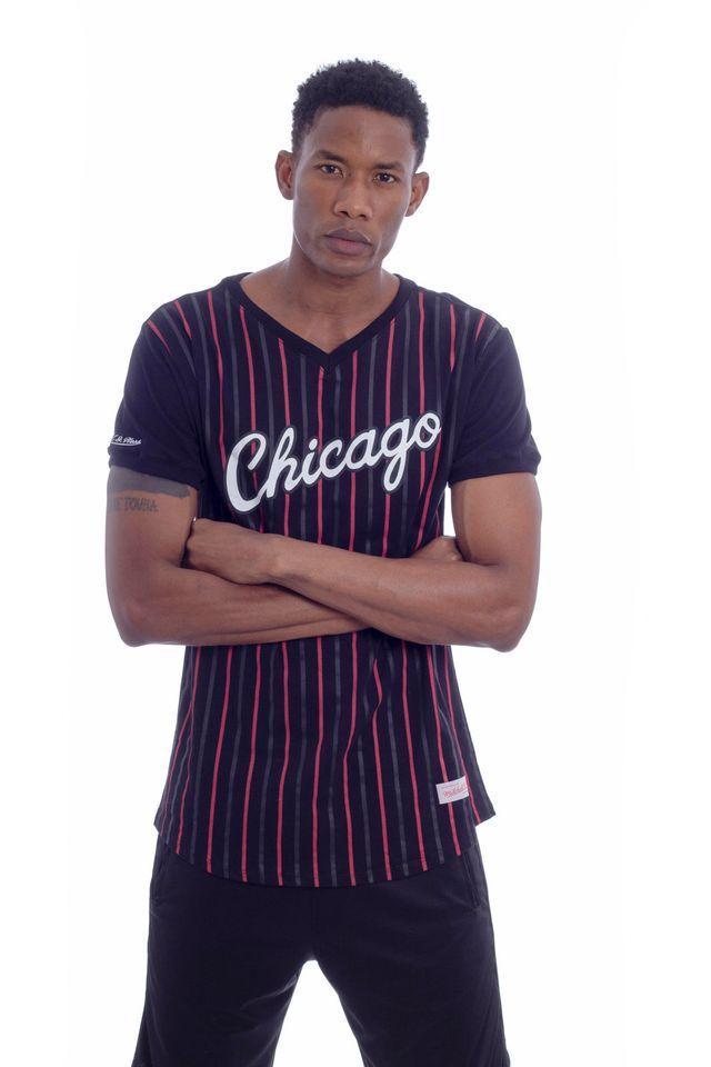 Camiseta-Mitchell---Ness-Estampada-Especial-Soccer-Chicago-Bulls-Preta