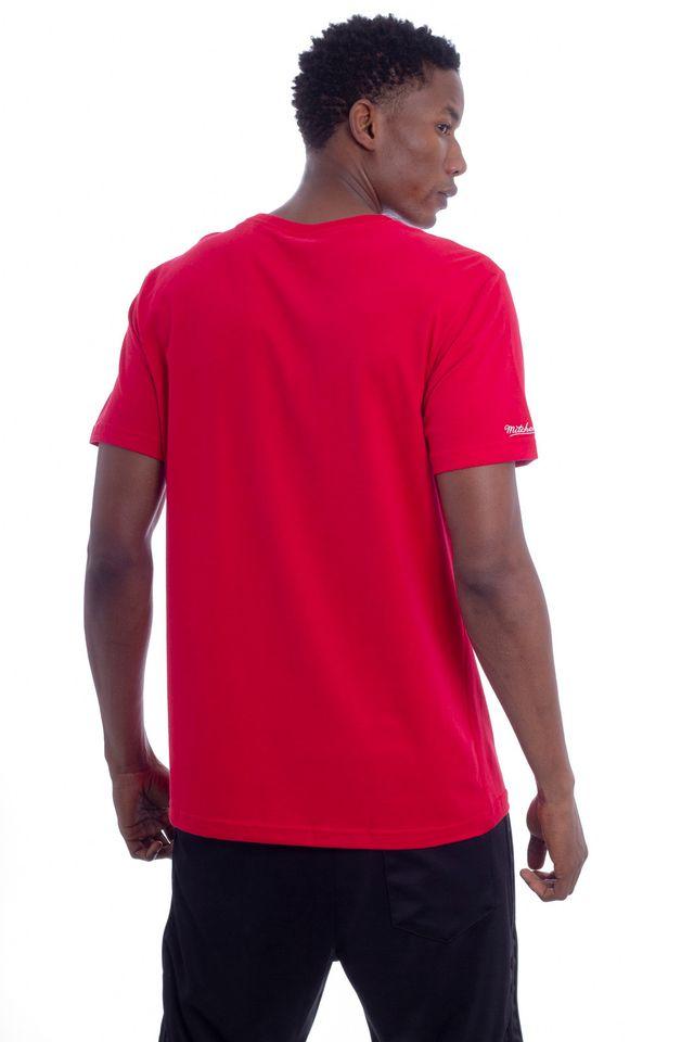 Camiseta-Mitchell---Ness-Estampada-Houston-Rockets-Vermelha