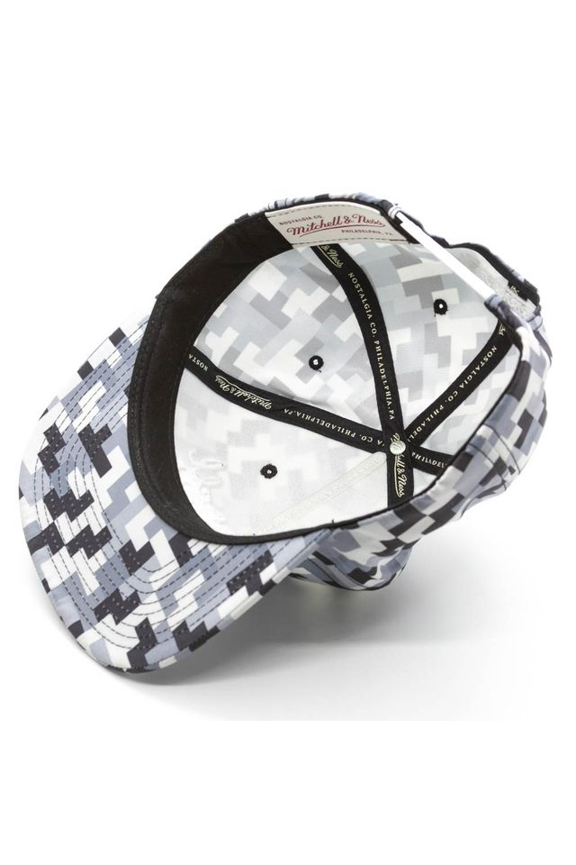 Bone-Mitchell---Ness-Aba-Reta-Snapback-Geometrico-Branded-Preto