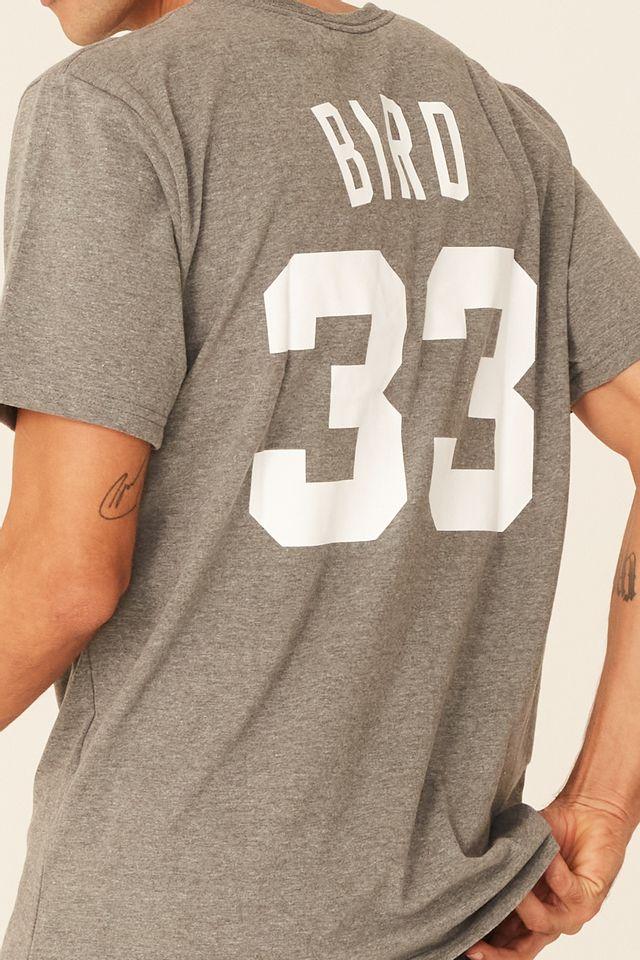 Camiseta-Mitchell---Ness-Estampada-Boston-Celtics-Larry-Bird-Cinza