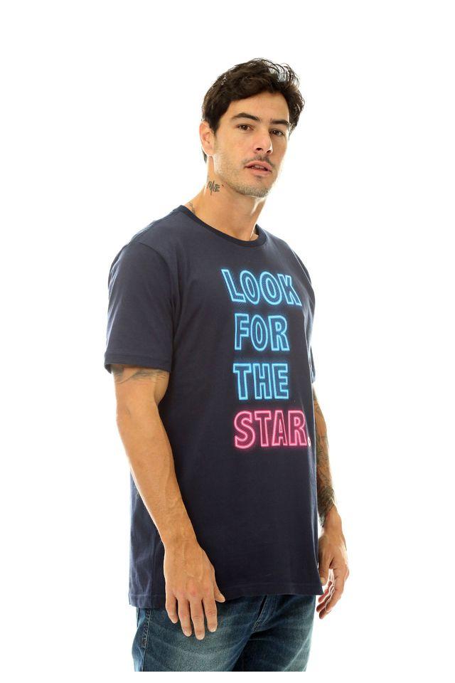 Camiseta-Starter-Estampada-Neon-Look-For-The-Star-Azul-Marinho