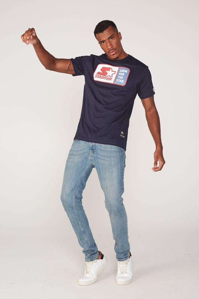 Camiseta-Starter-Estampada-Azul-Marinho