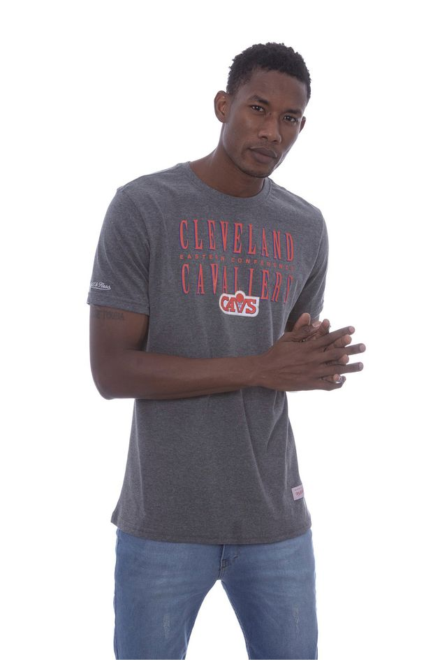 Camiseta-Mitchell---Ness-Estampada-Defense-Cleveland-Cavaliers-Cinza