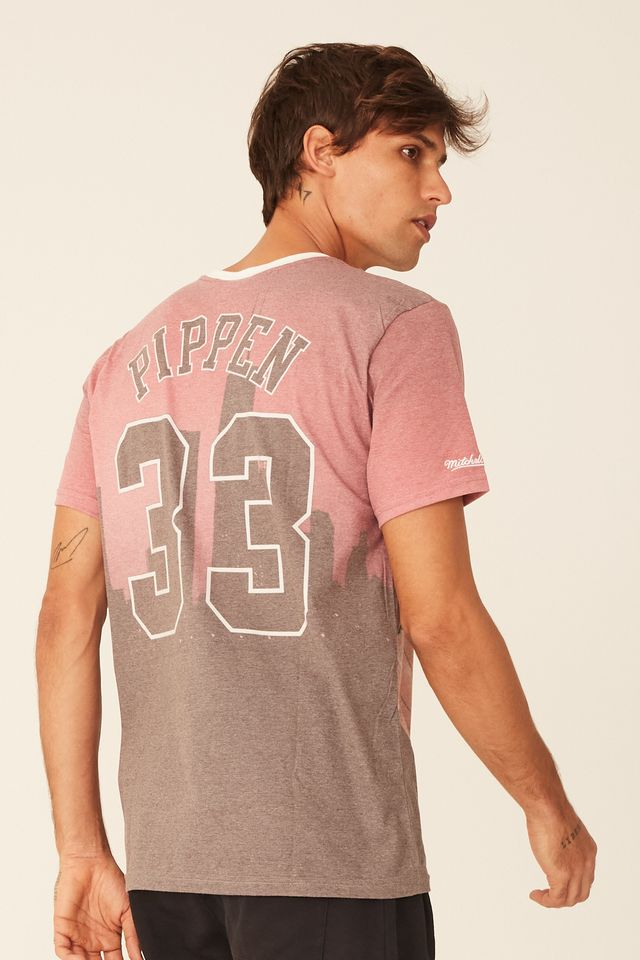 Camiseta-Mitchell---Ness-Estampada-Chicago-Bulls-Scott-Pippen-Vermelha