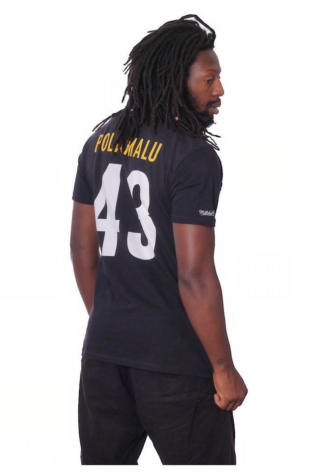 Camiseta-Mitchell---Ness-Estampada-NFL-Pittsburgh-Steelers-Preta