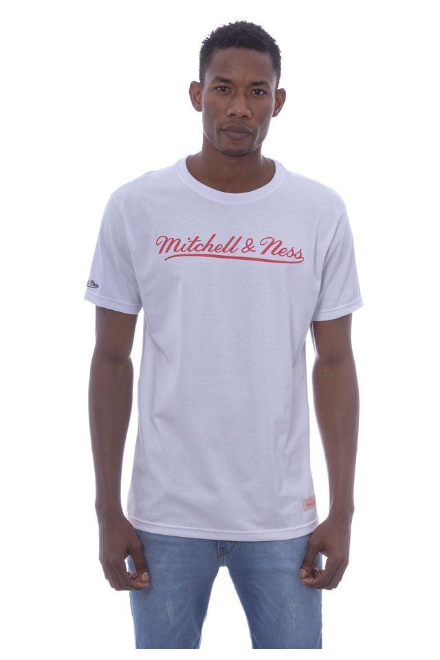 Camiseta-Mitchell---Ness-Estampada-Branding-Classic-Branca