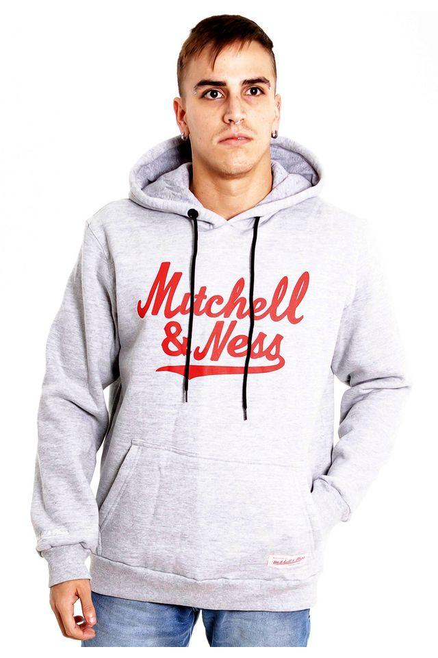 Moletom-Mitchell---Ness-Fechado-Com-Capuz-Branded-Cinza-Mescla
