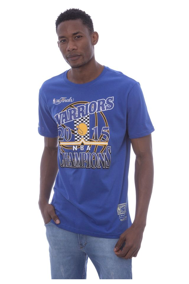 Camiseta-Mitchell---Ness-Estampada-NBA-Champion-Golden-State-Warriors-Azul
