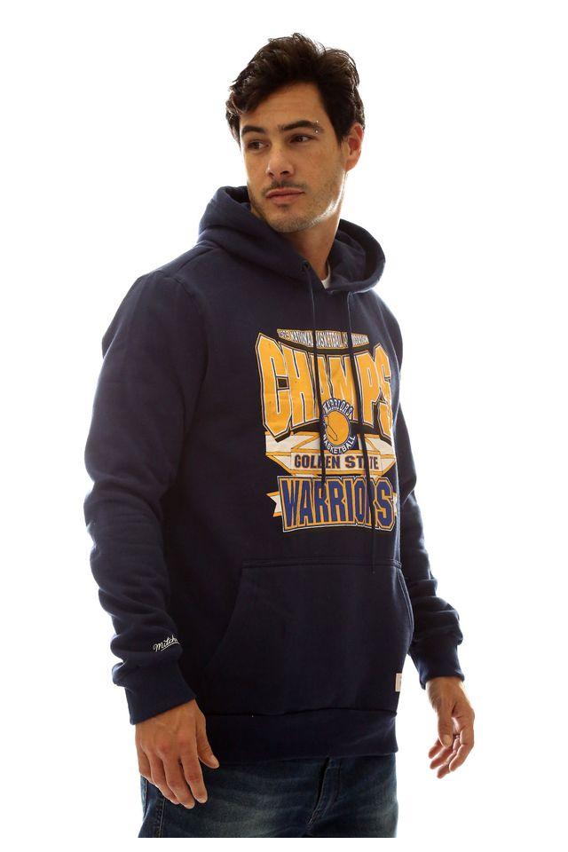 Moletom-Mitchell---Ness-Fechado-Com-Capuz-Golden-State-Warriors-Azul-Marinho