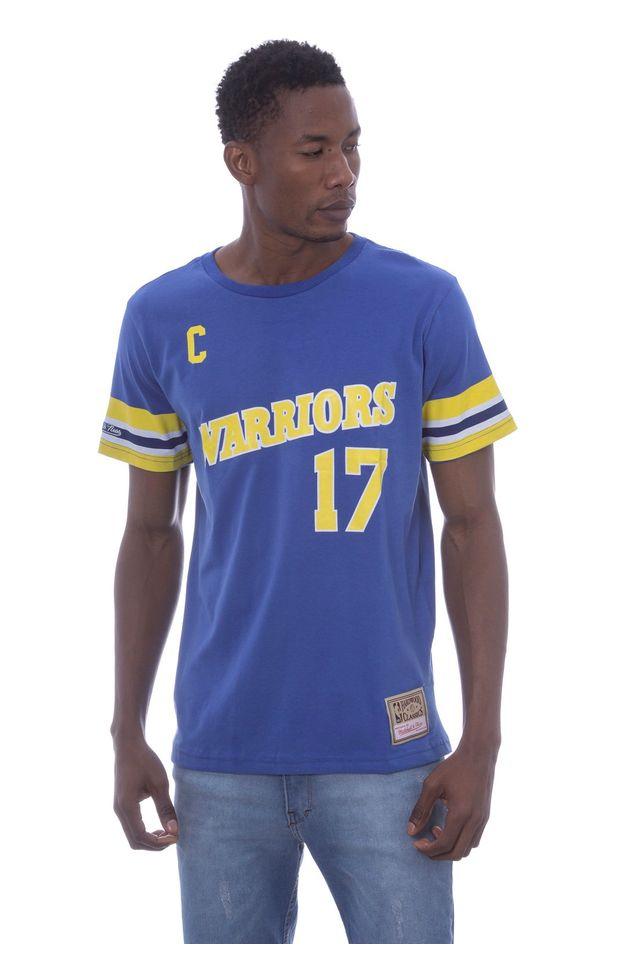Camiseta-Mitchell---Ness-Estampada-Golden-State-Warriors-Chris-Mullin-Azul
