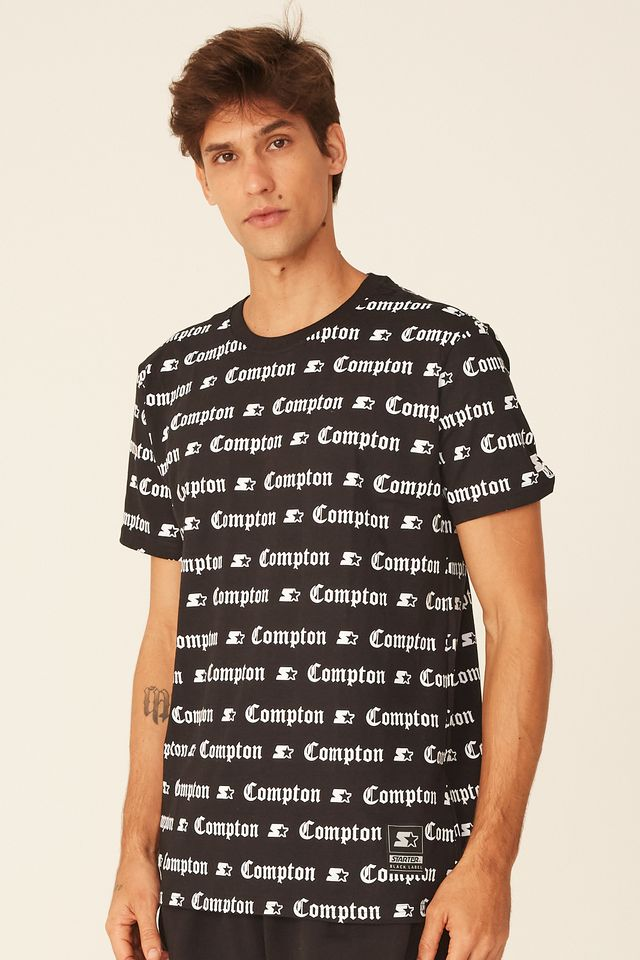 Camiseta-Starter-Basica-Estampada-Compton-Preta