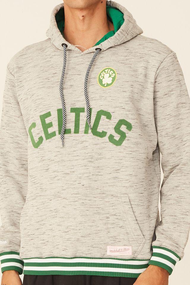 Moletom-Mitchell---Ness-Fechado-Com-Capuz-Boston-Celtics-Cinza-Mescla
