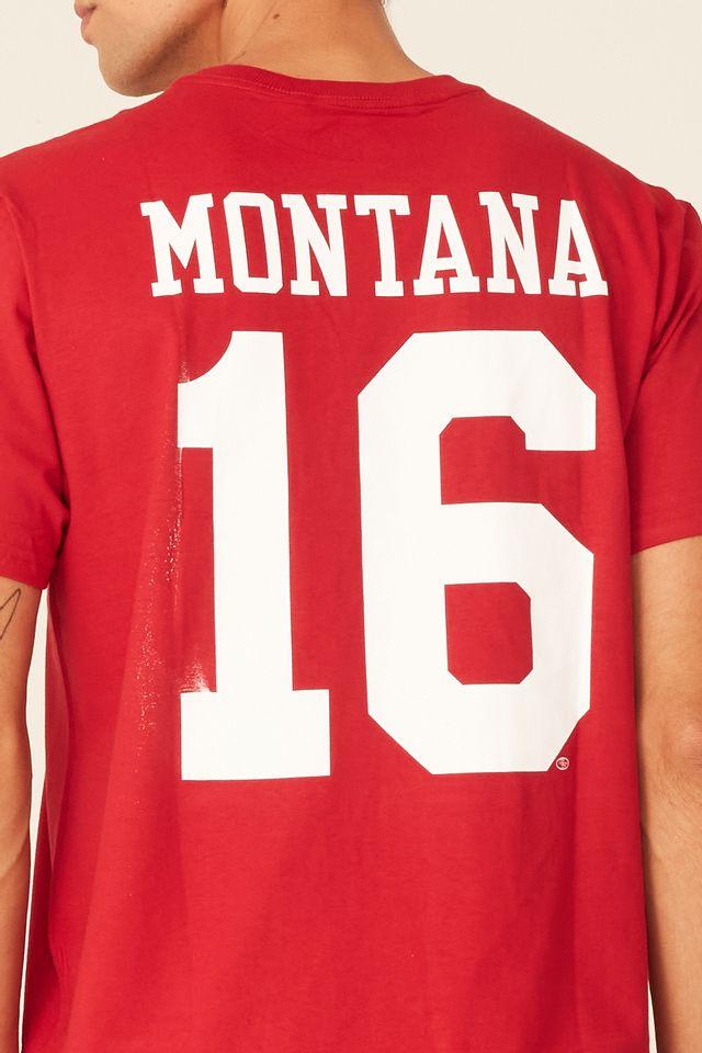 Camiseta-Mitchell---Ness-Estampada-NFL-San-Francisco-49ERS-Joe-Montana-Vermelha