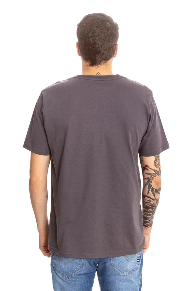 Camiseta-HD-Estampada-Spike-Flora-Cinza