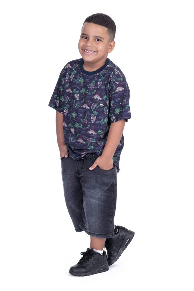 Camiseta-HD-Juvenil-Especial-Estampada-Island-Azul-Marinho