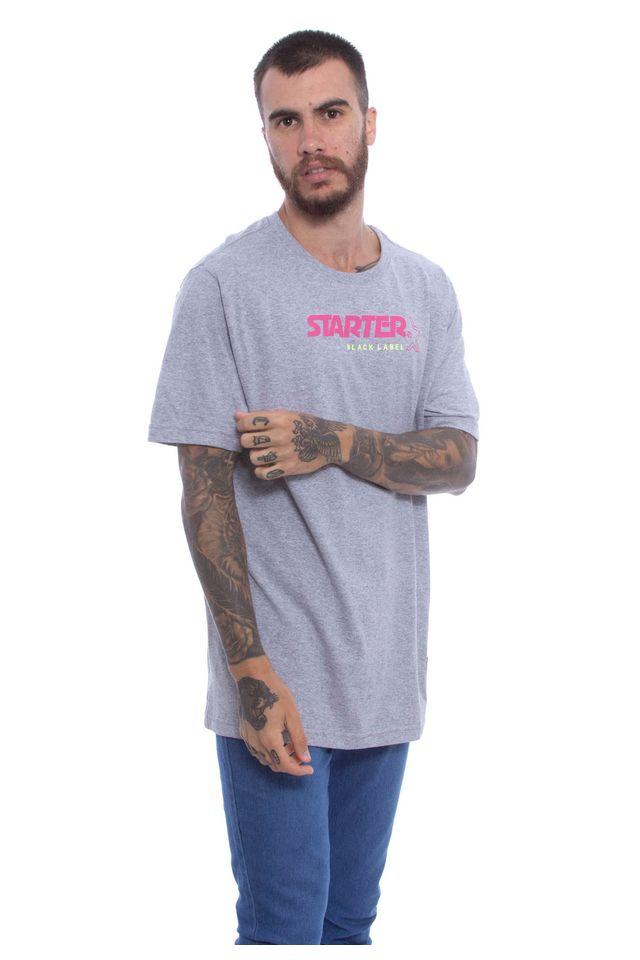 Camiseta-Starter-Basica-Black-Label-Estampada-Cinza-Mescla