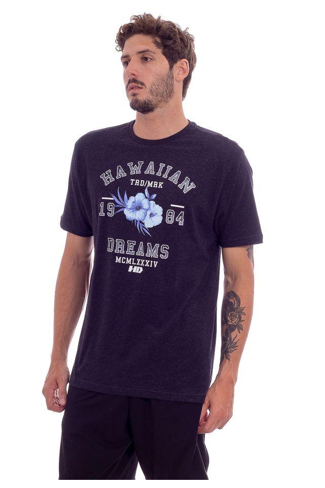 Camiseta-HD-Estampada-Varsity-Preta-Mescla