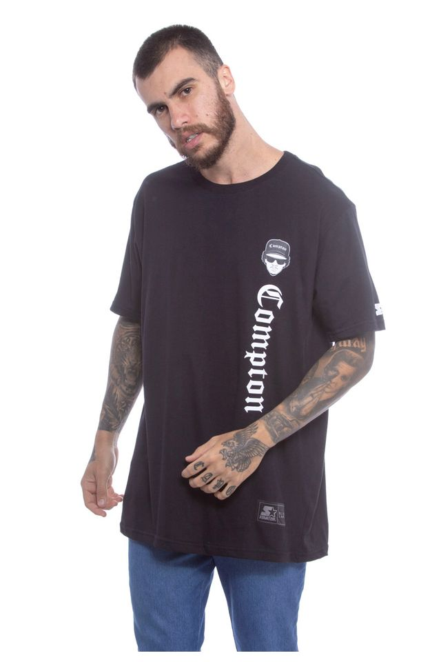 Camiseta-Starter-Basica-Compton-Preta