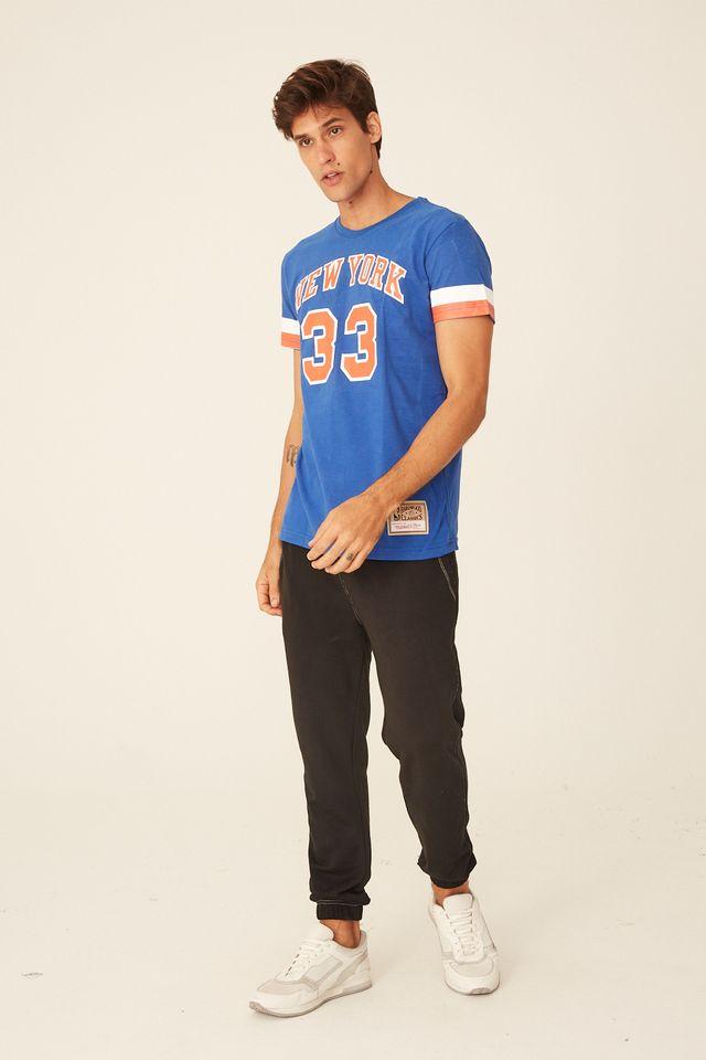 Camiseta-Mitchell---Ness-Estampada-New-York-Knicks-Patrick-Ewing-Azul