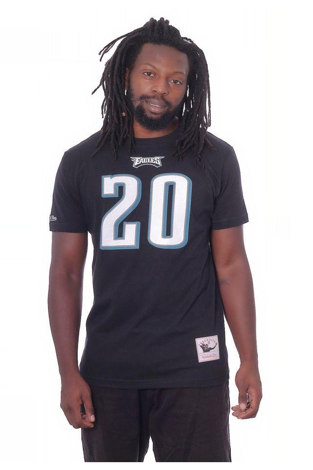 Camiseta-Mitchell---Ness-Basica-Estampada-NFL-Philadelphia-Eagles-Preta