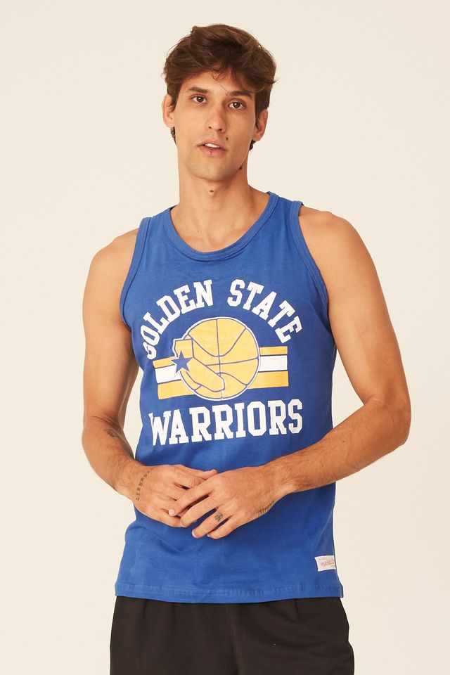 Regata-Mitchell---Ness-NBA-Estampada-Golden-State-Warriors-Azul
